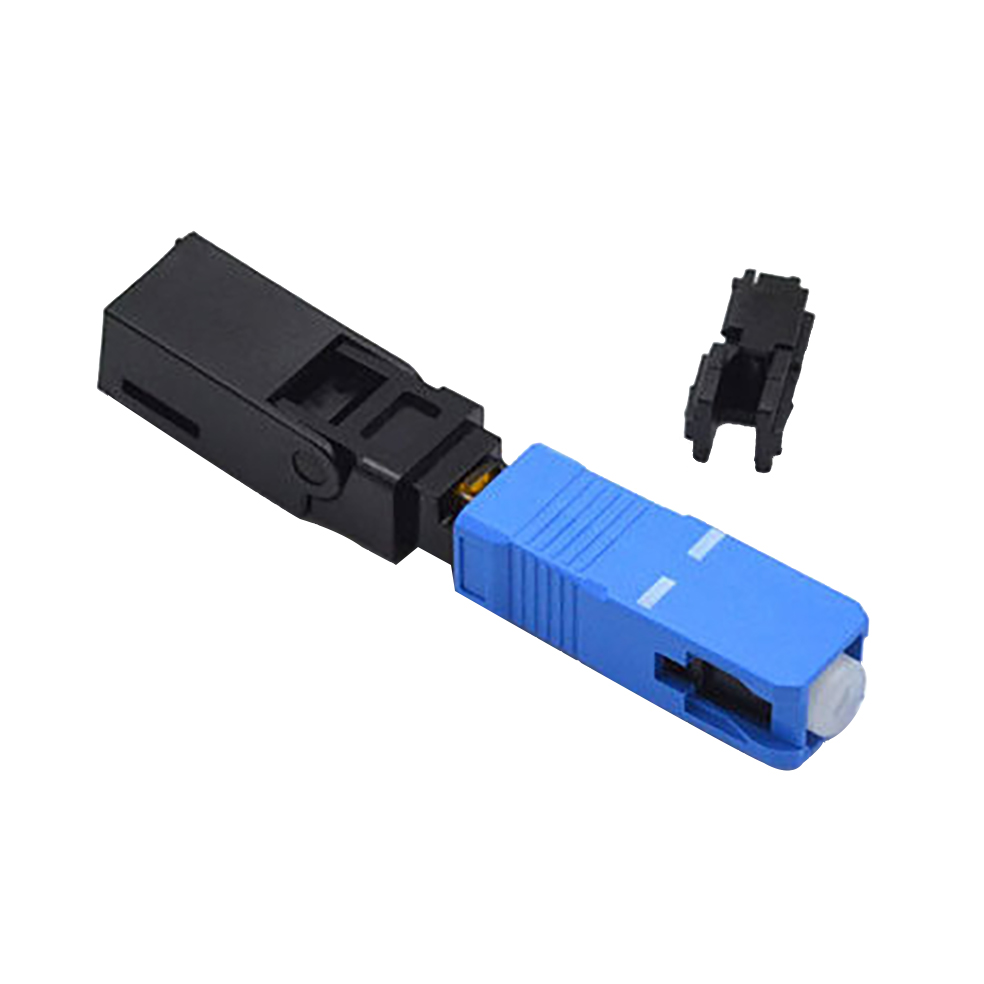 SC Fiber Optic Connector For FTTH Drop Cable 4mm Fiber Optic Cable Connector