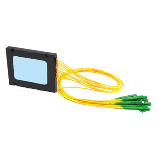 1×8 Optical PLC Splitter  single mode cable with LC/APC connectors